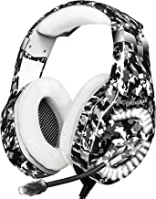 Gaming Headset for PS4, Xbox One Headset with Mic Noise Cancelling, 7.1 Stereo Surround Sound, Led Light, Soft Memory Earm...