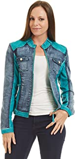 Come Together California CTC Womens The Ultimate Denim Faux Leather Jacket