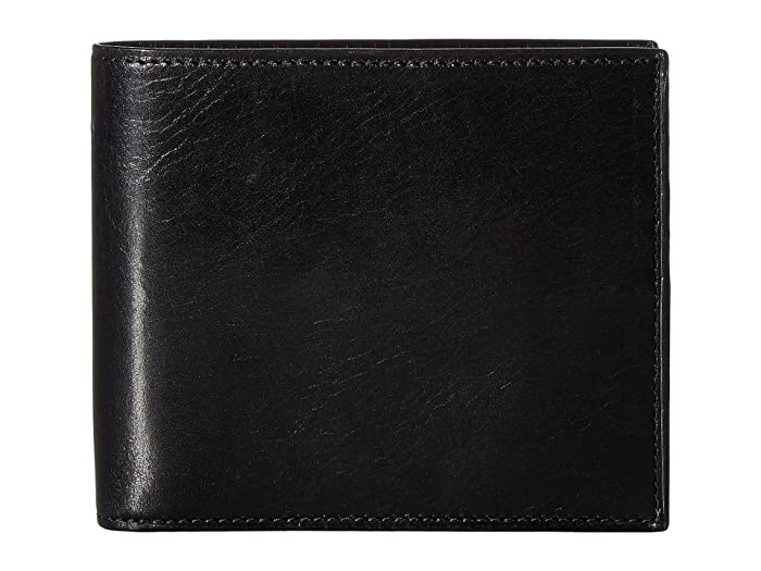 Bosca  Old Leather Collection - Credit Wallet with I.D. Passcase (Black) Wallet Handbags