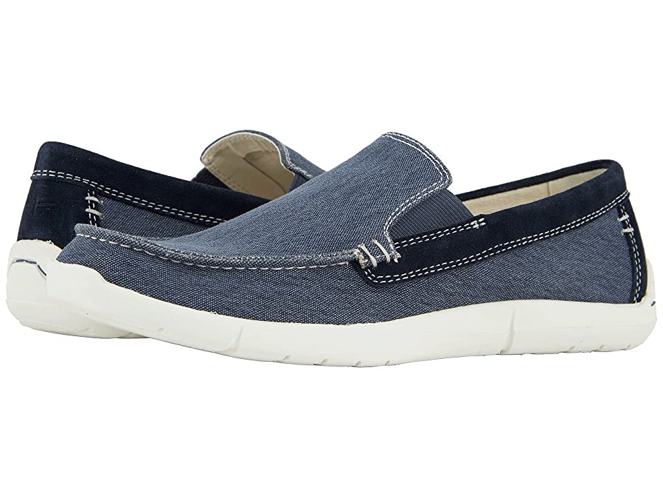 Dockers Ashland 360 Moc Toe Loafer (Blue Canvas) Men