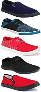 WORLD WEAR FOOTWEAR Sports Running Shoes/Casual/Sneakers/Loafers Shoes for MenMulticolors (Combo-(5)-1219-1221-1140-761-1014)