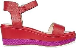 Tango Red Tumbled Leather/CH Fuchsia Nylon Midsole