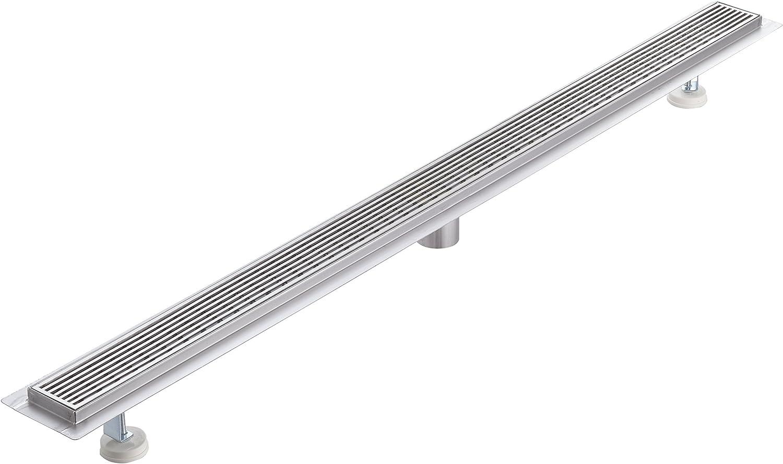 Bargain Trust sale KABCO K-WG0148-SET Linear Drain Wedgewire Stainless Grate Steel