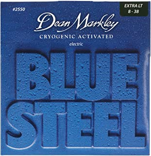 Dean Markley Blue Steel Electric Guitar Strings, 8-38, 2550, Extra Light