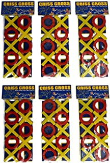 Perpetual Bliss (Pack of 6) Criss Cross Tic Tac Toe Game for Kids / Return Gift for Kids Birthday Party