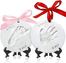 Baby Handprint Footprint Ornament Keepsake Kit – Personalized Baby Prints Ornaments..