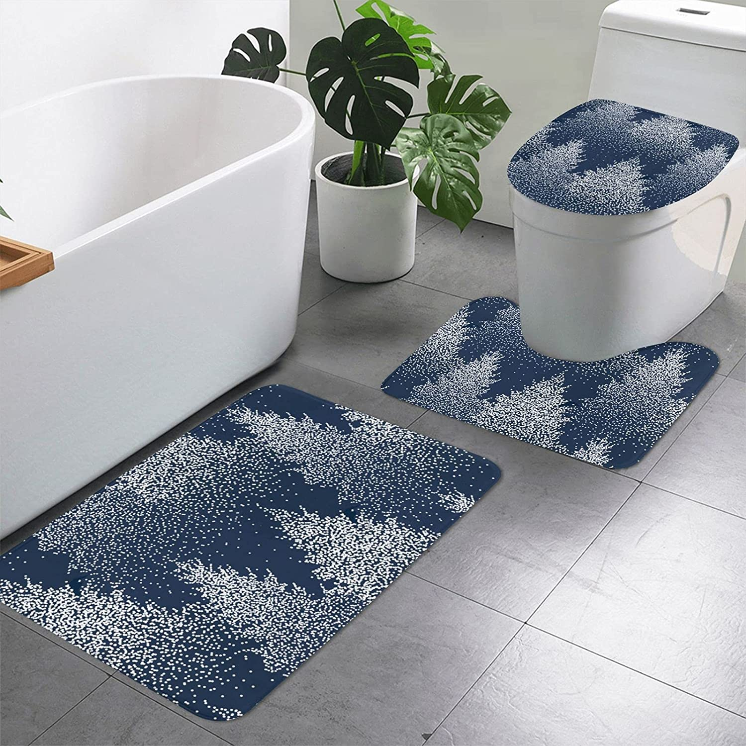 3 Pieces Bathroom Rug Set Includes 15.7 19.7 Bombing new work x Fort Worth Mall U-Shaped Inches