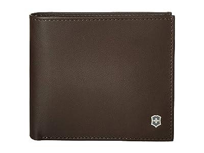 Victorinox Altius Edge Pythagoras Deluxe Bifold Organizer w/ RFID (Dark Earth Leather) Bi-fold Wallet