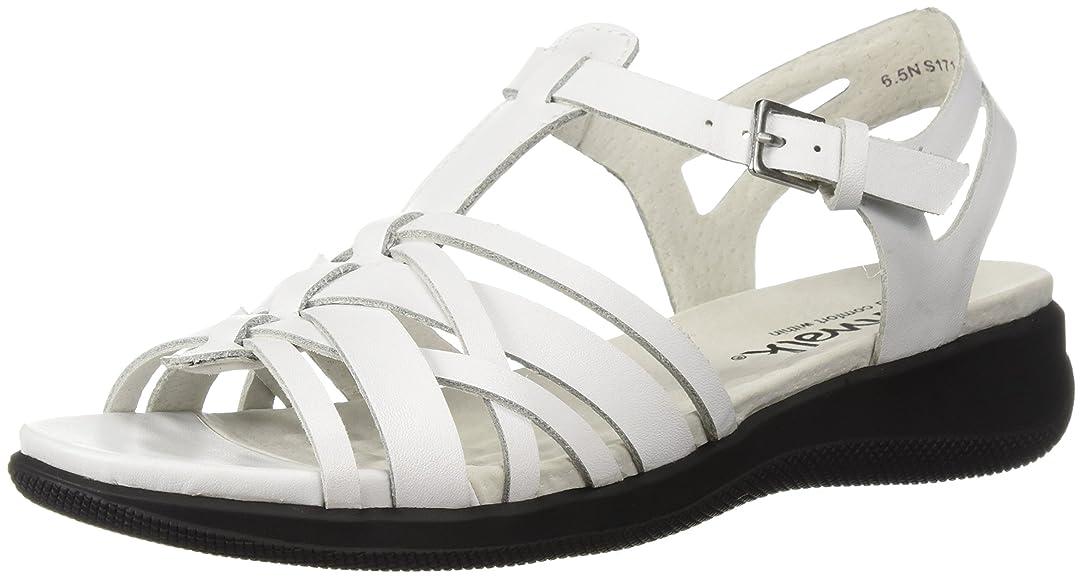 に勝る建設俳句SoftWalk Womens taft Open Toe Casual Leather Flat Sandals