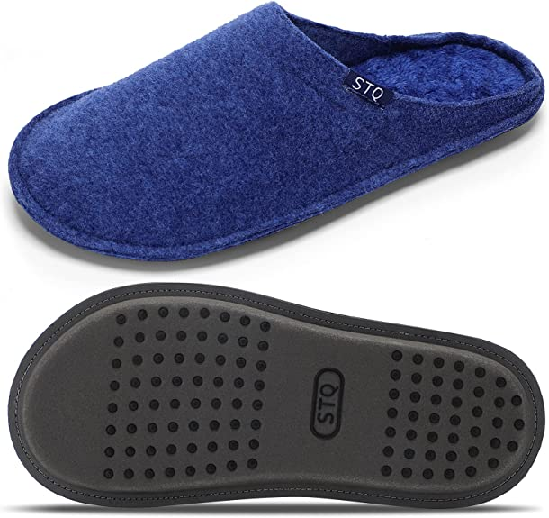 STQ Women's Classic Slippers Slip on Warm and Cozy House Shoes