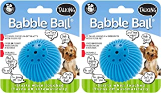 Pet Qwerks 2 Pack of Talking Babble Ball Interactive Dog Toys, Small - Wisecracks & Makes Funny Sounds, Electronic Ball Th...