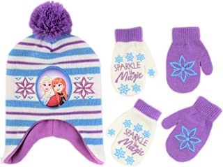 Disney Frozen Hat and 2 Pair Gloves/Mittens Cold Weather Set, Little Girls, Age 2-7