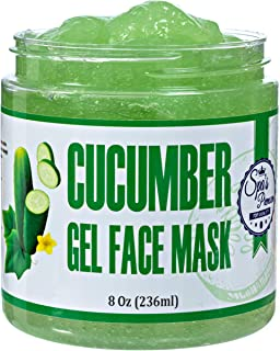Spa's Premium Cucumber Gel Face Mask, Deep purifying hydrating cucumber mask, anti-inflammatory and soothing, Gel mask with anti-oxidants and vitamins