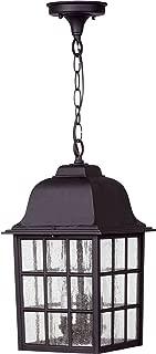 Craftmade Z571-TB Grid Cage Outdoor Ceiling Pendant Lighting, 3-Light, 180 Watts, Textured Matte Black (9