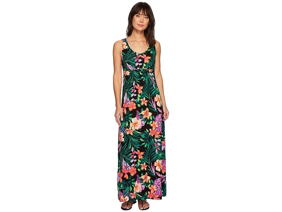 Tommy Bahama Marabella Blooms Maxi Dress (Black) Women
