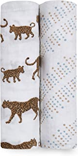 aden + anais Hear Me Roar Classic Swaddle 2 Pack, Multi, 2 Count