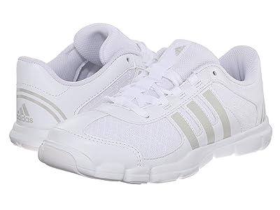 adidas Kids Triple Cheer C (Little Kid) (White/Metallic) Kids Shoes