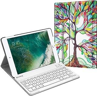 Fintie iPad 9.7 2018/2017 / iPad Air 2 / iPad Air Keyboard Case - Slim Shell Stand Cover w/Magnetically Detachable Wireless Bluetooth Keyboard for iPad 6th / 5th Gen, iPad Air 1/2, Love Tree