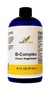 Vitamin B-Complex,Super B Complex Vitamins with Vitamin C Liquid, 16 oz - All B Vitamins Including B1, B2, B3, B5, B6, B7,...