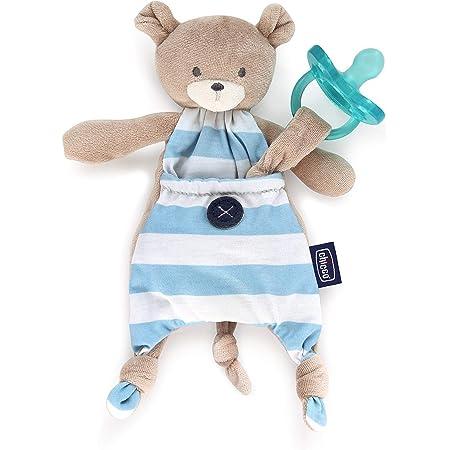 Chicco Pocket Friend Orsetto, Peluche per Neonati a Forma di Morbido orsetto, Azzurro
