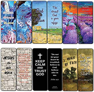 Favorite Bible Verses Bookmarks Cards (60-Pack)- Reassuring us with God's Message of Love and Hope - Prayer Cards Religious Christian Gift to Encourage Men Women Teens Boys Girls Kids
