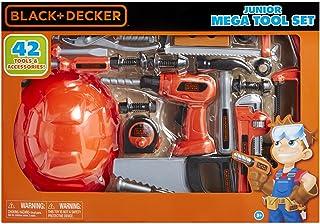 Black and Decker Jr Mega Juego de herramientas nuevo, Negro