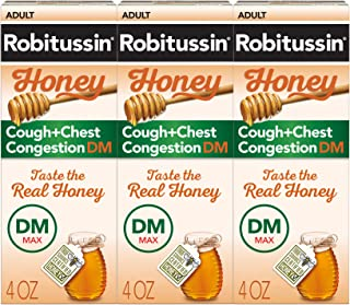 Sponsored Ad - Robitussin Robitussin Honey Adult Maximum Strength Cough + Chest Congestion, 3 Pack of 4 Fl. Oz. Bottles, 1...