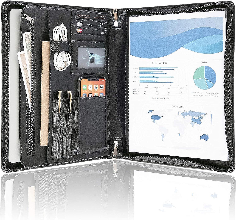 overseas Black Padfolio Our shop most popular Organizer- Resume Storage Portfolio with Document