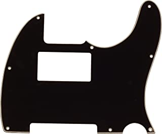 Seismic Audio Black Replacement 3 Ply Humbucker Pickguard for Standard Tele Style Guitar (SAGA36)