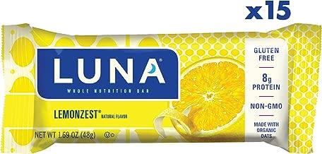 LUNA BAR - Gluten Free Snack Bars - Lemon Zest Flavor - (1.69 Ounce Snack Bar, 15 Count)