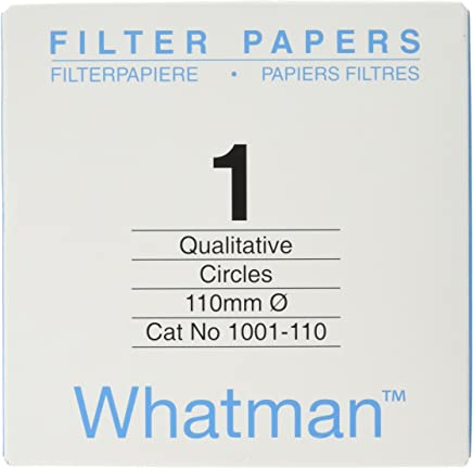 Pack of 100 55 mm Thick and Max Volume 64 ml//m Whatman 4712R10PK 1005055 Grade 5 Qualitative Filter Paper