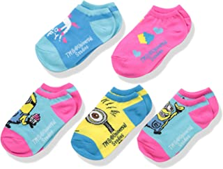 Universal Girls' Despicable Me 5 Pack No Show Socks