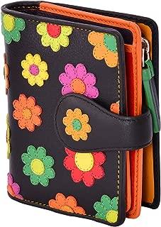 Visconti Sunshine DS-80 Womens Floral Multi Colored Bifold Wallet - Black Multi