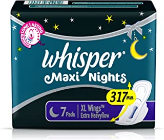 Whisper Maxi Nights 7 Pads -XL Wings Extra Heavyflow - 317mm