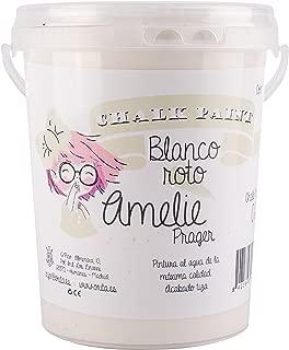 Amelie Prager 1000-02 Pintura a la Tiza, Blanco Roto, 1 l