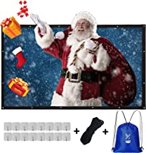 Varmax Projector Screen 150 inch 16:9 Movie Screen with Foldable Canvas Fabric, for Outdoor Indoor Movie Night, Camping, Hiking, Backyard Home Theater
