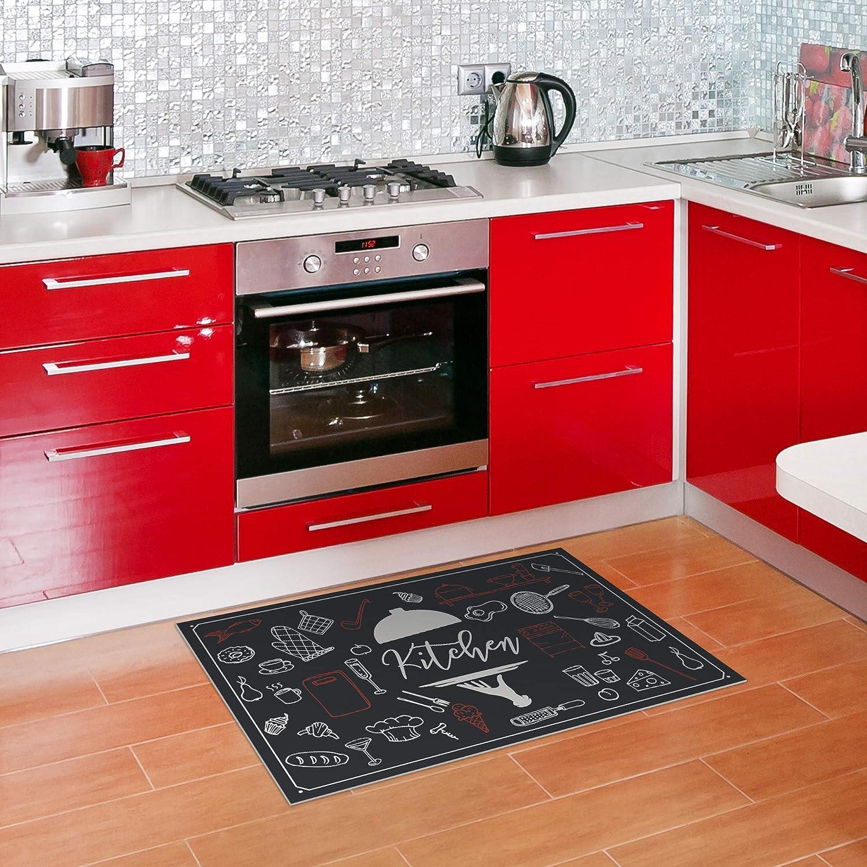 Easy to Clean Bathroom Floor Mats Durable Home Decor Restroom 2 x 3 American Art Decor Boho Owl Indoor Ultra-Thin Non-Slip Vinyl Kitchen