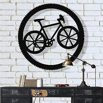 Arte de pared de metal para bicicleta, regalo de ciclista, arte de bicicleta, decoración de pared de metal,