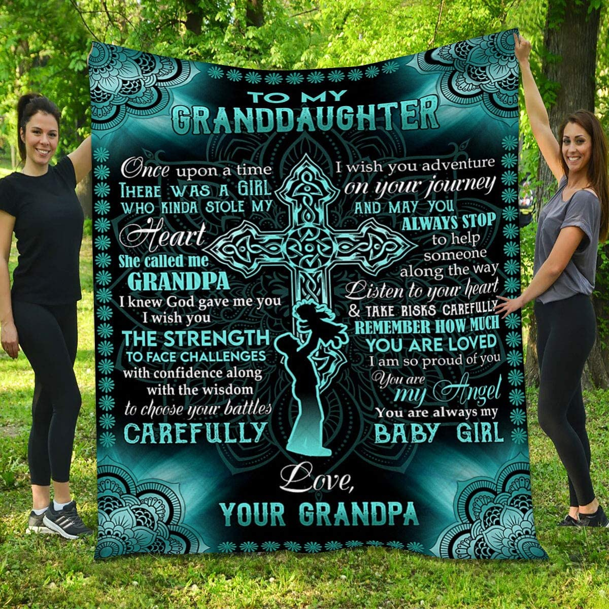 Granddaughter Quilt from Grandpa At the price of surprise Sale Special Price - Mandala You Cross and