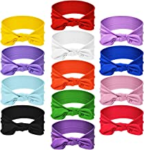 13 Pieces Hair Bands Bows Solid Color Knot Headwrap Bowknot Headbands Rabbit Ear Hairband Hair Accessories for Woman Girls...