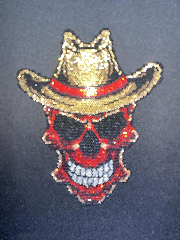 Sales results No. 1 Rhinestop Western Cowboy Skull Iron Design ...