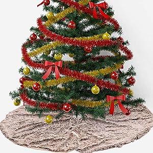 SXFYZCY Arbre de Noël Arbre de Noël Décoration de Noël Jupe Jupe de Base Couverture Décoration de Noël