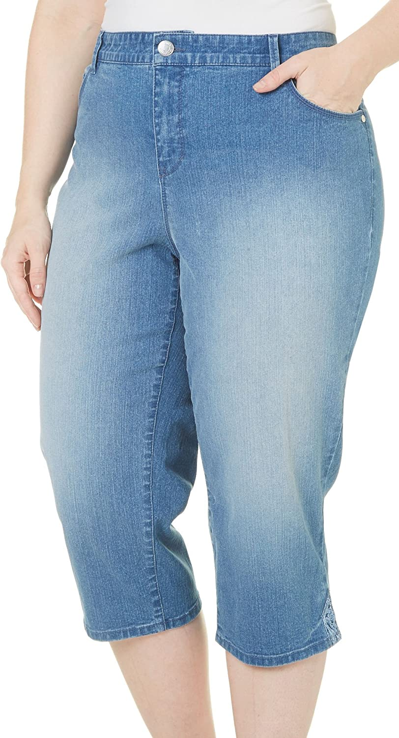 Gloria Vanderbilt Plus Size Plus Capri Denim Pants