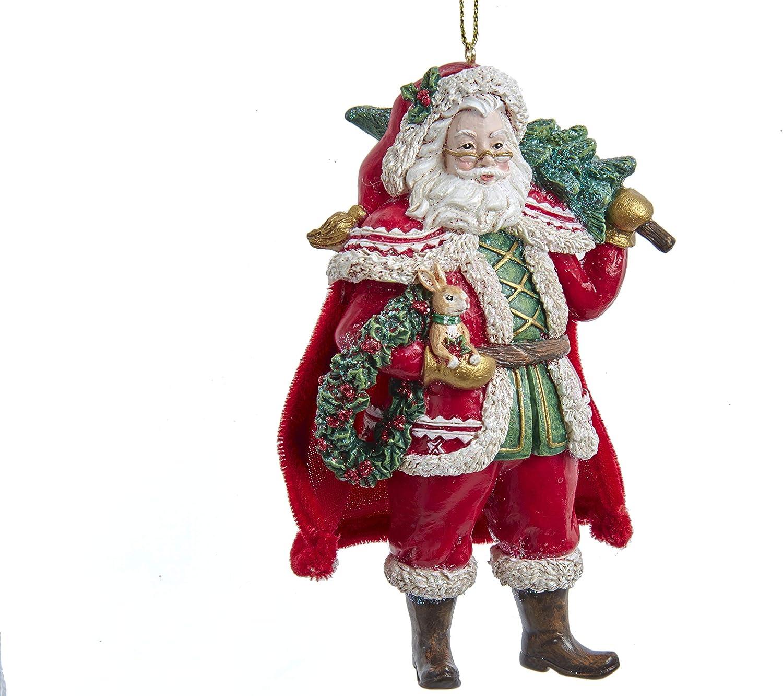 Kurt Adler E0455 Woodland lowest price Santa High R unisex Ornament Hanging 4-inch