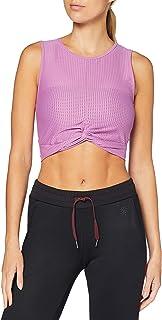 AURIQUE Amazon Brand Women's Mesh Sports Crop Top