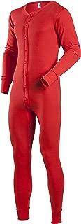 Indera Men's Cotton 1 x 1 Rib Union Suit