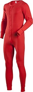 Men's Tall Cotton 1 x 1 Rib Union Suit, Red, X-Large
