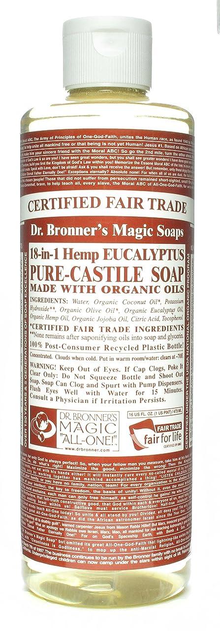 フラップ約設定類似性Dr. Bronner's 博士Bronnersユーカリ16オンスカスティーリャソープ(3パック)