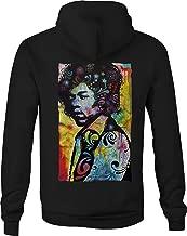 Motorcycle Zip Up Hoodie Neon Jimi Hendrix Experience Rock Art