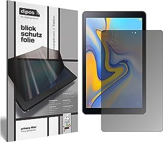 dipos I Sekretessfilter kompatibel med Samsung Galaxy Tab A 10,5 skärmskydd antispion 4-vägs skydd